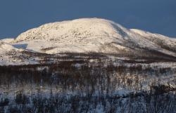Norway winter mountain